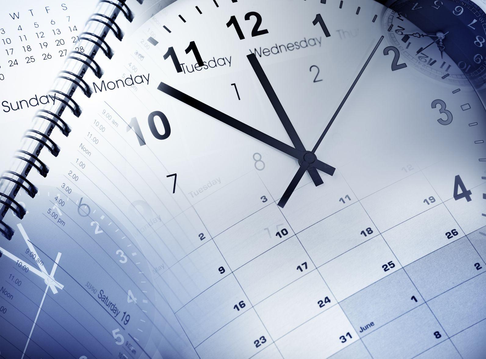 15372593 - clock faces, calendars and diary